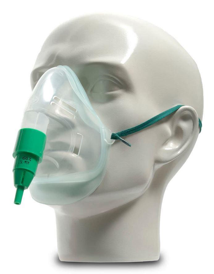 A Venturi Mask on a Mannequin Head