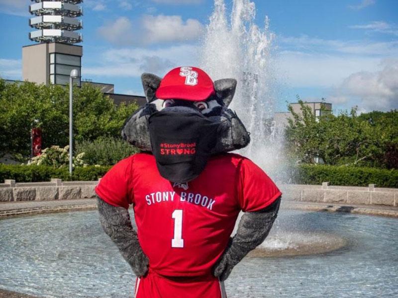 Stony Brook's Mascot Wolfie
